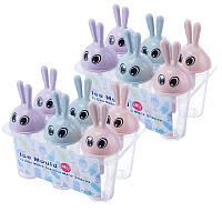 Формочки для мороженого Зайчики (6 форм)