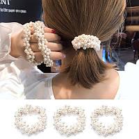 Гумка для волосся з перлами, фото 1