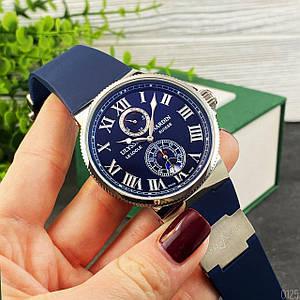 Наручний годинник преміум класу Ulysse Nardin Maxi Marine ААА Blue-Silver