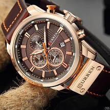 Чоловічі наручні годинники Curren 8291Cuprum-Brown Годинник з коричневим циферблатом, фото 2
