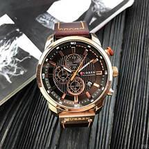 Мужские наручные часы Curren 8291Cuprum-Brown Часы с коричневым циферблатом, фото 2
