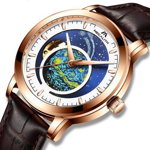 Оригінальні наручні годинники Megalith 8213M Brown-Cuprum-White | Оригінал Мегаліт