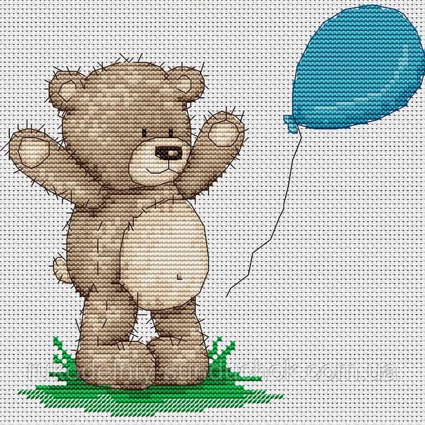 Набор для вышивки крестом Luca-S B1081 Медвежонок Бруно