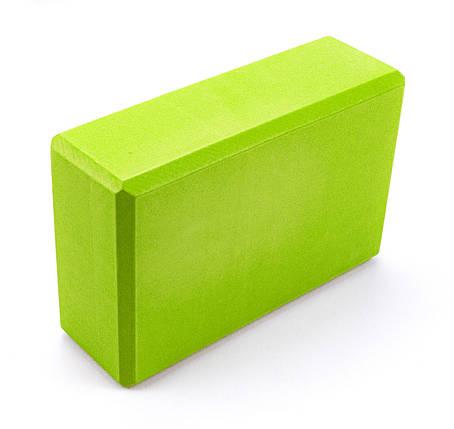 Блок для йоги Sportcraft Yoga Brick EVA ES0015 Lime, фото 2
