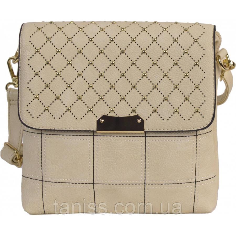 Женская,стильная сумка клатч, материал эко-кожа, одна длинная ручка,два отделения,украшение перфорация  (2138)