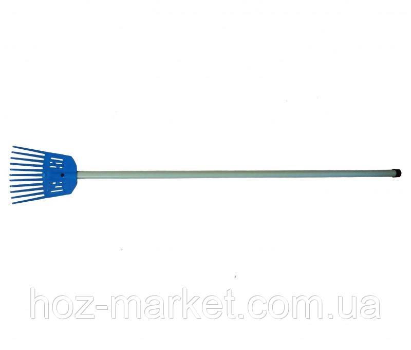 Грабли веерные пластмассовые 200 мм (с пластиковым черенком)