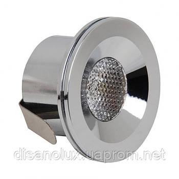 Світлодіодний світильник врізний MIRANDA 3W 4200K мат.хром
