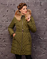 Женская зимняя куртка с натуральным мехом (рр 44-58)