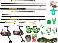 Набор рыболовный, Набор рыболовных снастей, спиннинг в сборе с катушкой, Комплекты рыболовные, Наборы рыболова