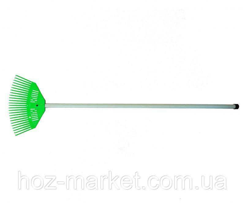Грабли веерные пластмассовые 360 мм (с пластиковым черенком)