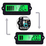 6v/12v/24v/36v/48v/63 вольтметр Універсальний Цифровий LCD - індикатор батареї тестер ємності . Зелений, фото 3