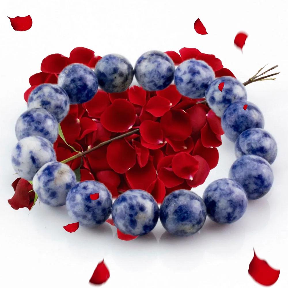 Браслет(d8). Азурит-горная синь, Василёк, синий оттенок, целебен, хрупок, спокойствие, самообладание, унисекс