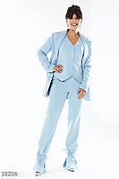 Однотонные брюки голубого оттенка XS,S,M,L