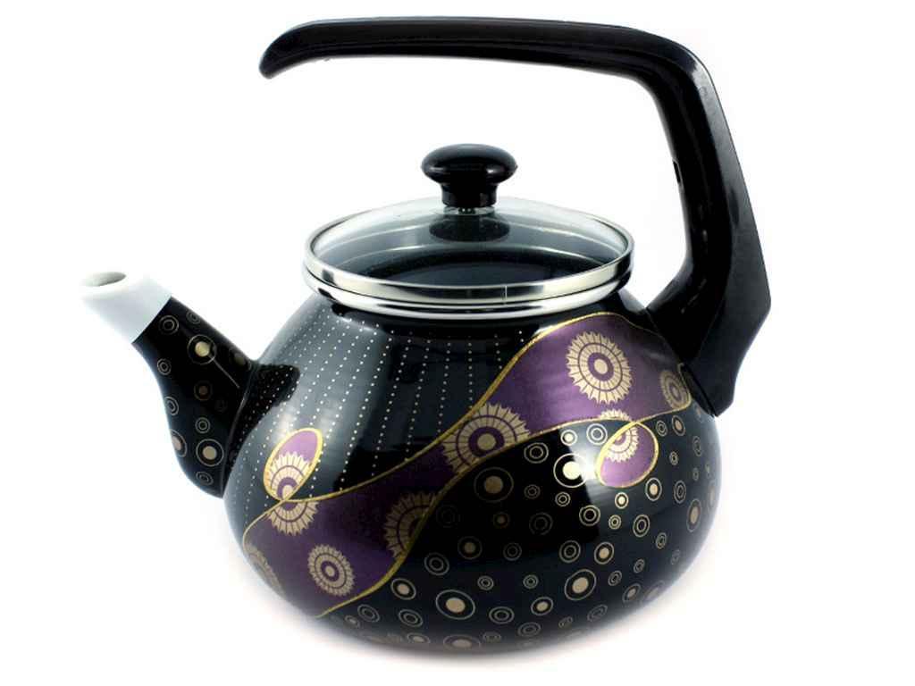 Чайник эмалированный Interos  Млечный путь 2,2 л фиолетовый (60572Е)