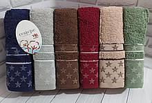 Полотенца махровые лицевые   Турция 6 штук в упаковке