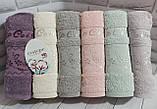 Полотенца махровые лицевые   Турция 6 штук в упаковке, фото 9