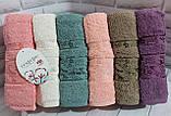 Полотенца махровые лицевые   Турция 6 штук в упаковке, фото 4