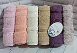 Полотенца махровые лицевые   Турция 6 штук в упаковке, фото 7