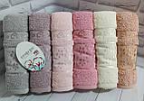 Полотенца махровые лицевые   Турция 6 штук в упаковке, фото 8