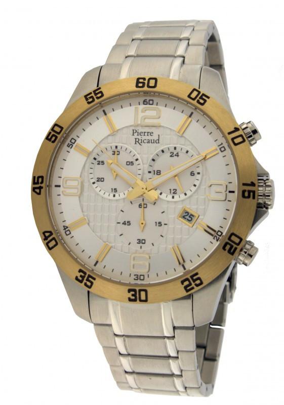 Часы Pierre Ricaud  PR 97016.2153CH кварц. Chronograph браслет