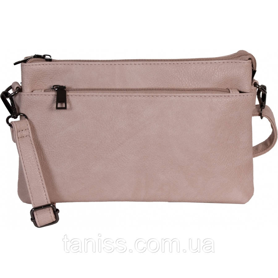 Жіноча,стильна сумка клатч, матеріал еко-шкіра, одна довга ручка,два відділення (3066)