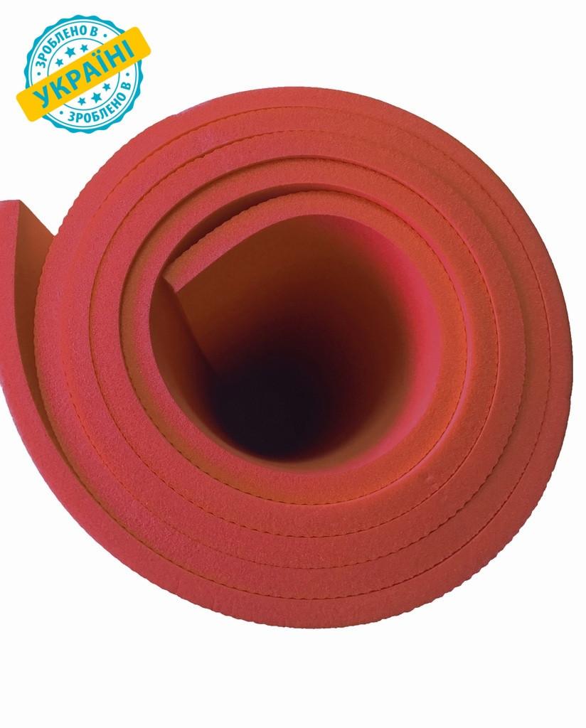 Коврик (каремат) 200*70*0.6 см для туризма и спорта Eva-Line двухсторонний красный