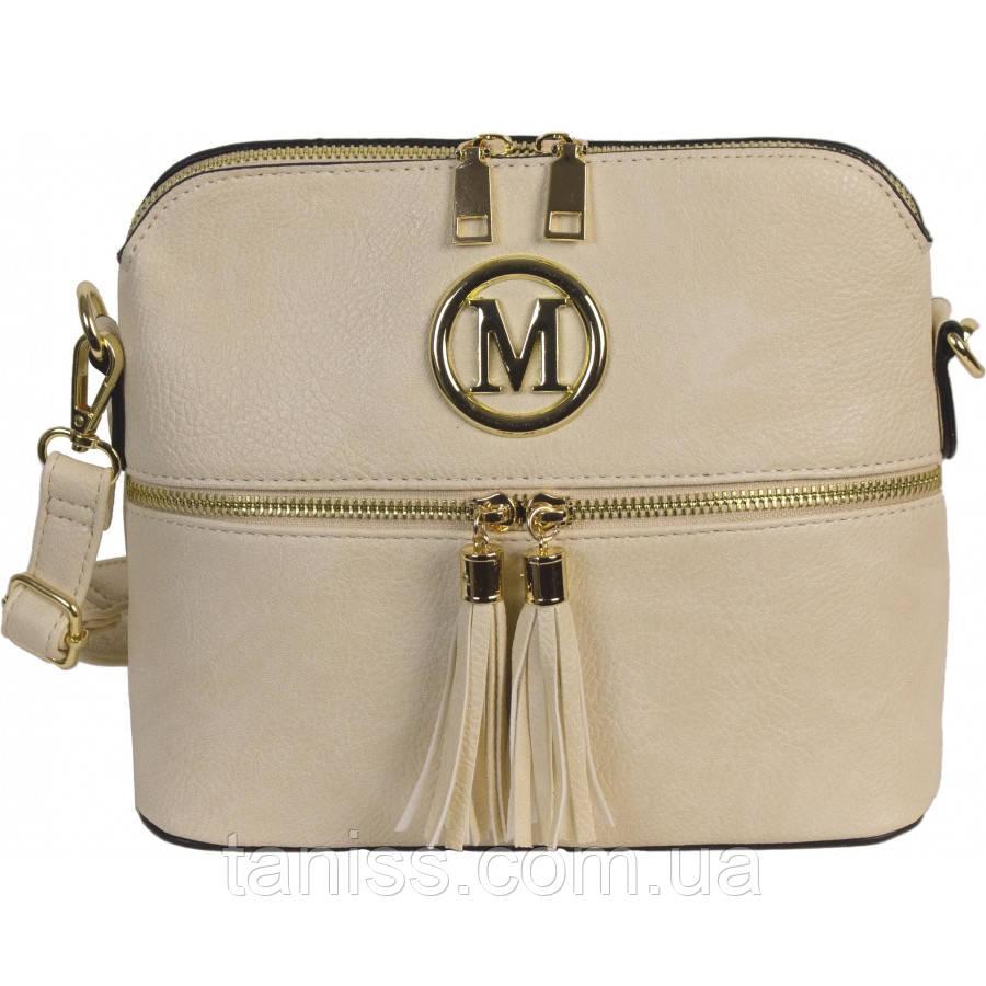 Жіноча,стильна сумка клатч, матеріал еко-шкіра, одна довга ручка,одне відділення,прикраси пензлики (9125)