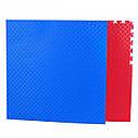Мат татами 100*100*2.6 см  Eva-Line Extra Quality синий/красный Плетёнка 100 кг/м3, фото 3