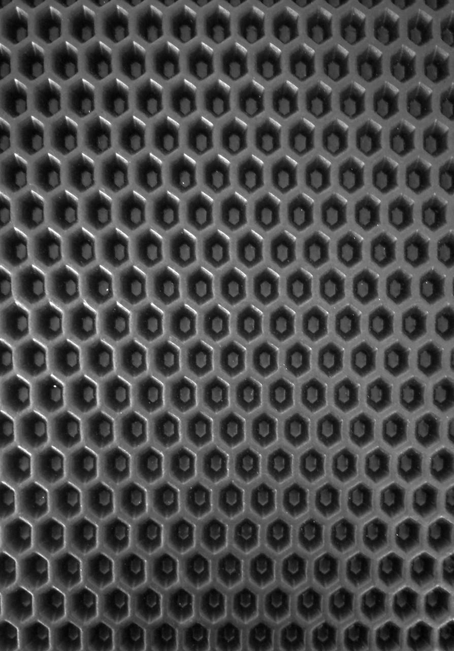 EVA материал для автоковриков (ЭВА листы) 2000*1200 мм черный Eva-Line сота