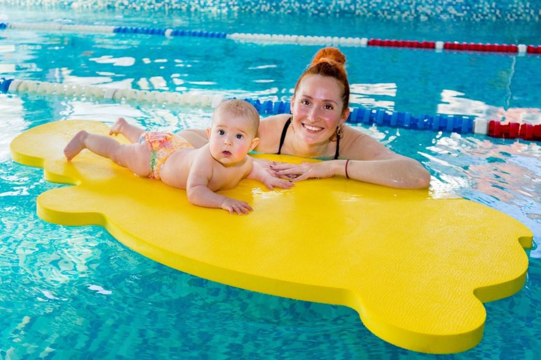 Матрас для отдыха на воде для малышей (плот для пляжа и бассейна) EVA_LINE -  Бегемот 1400*700*30 мм