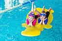 Матрас для отдыха на воде для малышей (плот для пляжа и бассейна) EVA_LINE -  Бегемот 1400*700*30 мм, фото 2