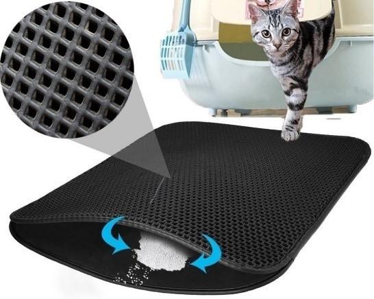 Коврик для кошачьего туалета 30*30*1 см Черный