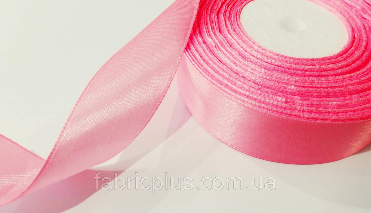 Стрічка атласна 2,5 см світло-рожева (04)