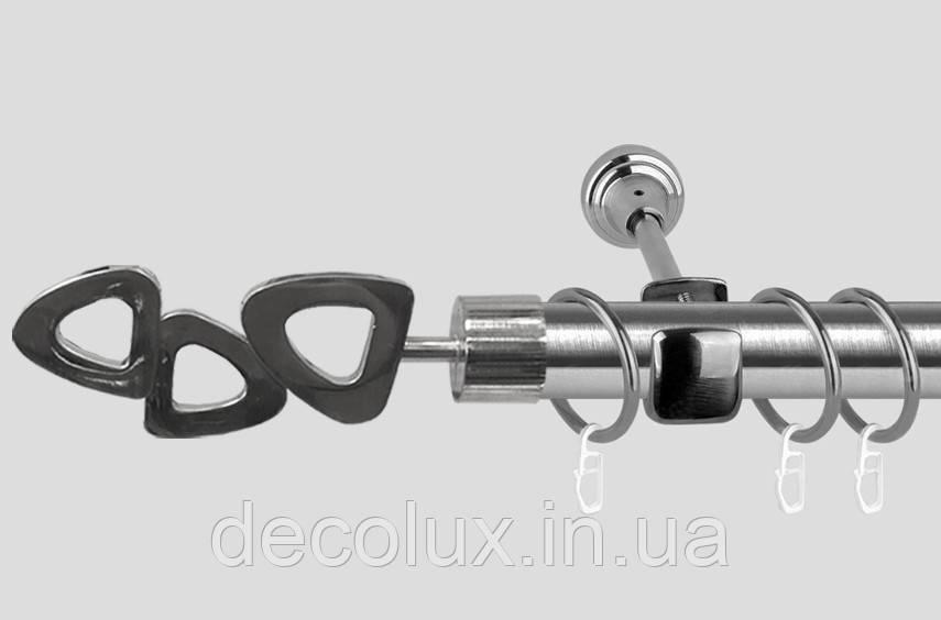 Карниз для штор однорядный металлический 19 мм, Лилет Сталь