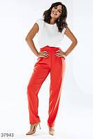 Яркие брюки с фигурным поясом XS,S,M,L