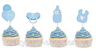 Набор топперов для капкейков, торта рождение мальчика