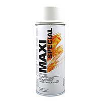 Краска аэрозольная термостойкая белая Maxi Color 650°С (MX0013) 400мл