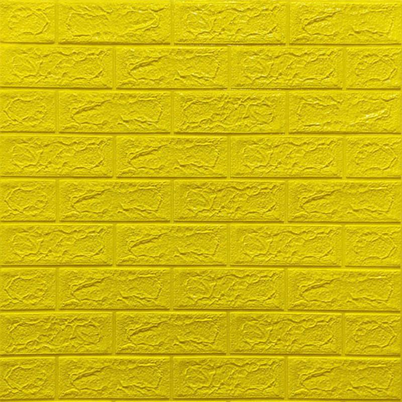 Самоклеющаяся декоративная 3D панель Кирпич Желтый 700x770x5мм (10 шт) Os-BG10-5