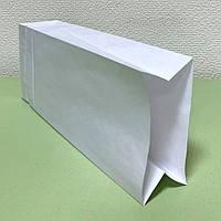 Белый бумажный крафт-пакет 110х60х290мм