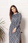Трикотажне жіноче плаття в клітку, фото 2