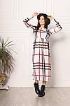 Трикотажне жіноче плаття в клітку, фото 7