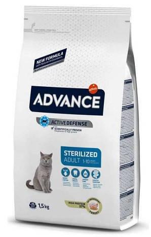 Advance (Эдванс) Cat Sterilized 15 кг Корм для стерилизованных кошек с индейкой, фото 2