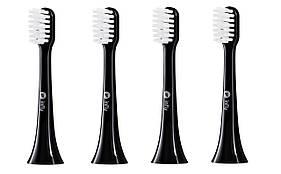 Набор сменных щеток-насадок Xiaomi inFly Toothbrush Head for PT02 Black (4 насадки)