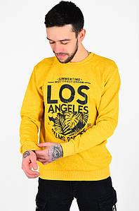Свитшот мужской на флисе желтый ORIDINAL 128045P