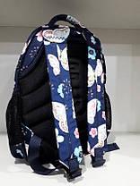 Рюкзак школьный ортопедический подростковый на два отдела в 4-7 класс Dolly 542 синий, фото 3