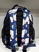 Рюкзак школьный ортопедический подростковый на два отдела в 4-7 класс Dolly 542 синий, фото 2