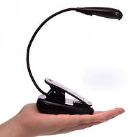 Ліхтарик-прищіпка 2 режиму(батарейки) для читання книг