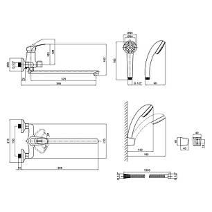 Змішувач для ванни Lidz (CRM)-16 37 005 00 New, фото 2