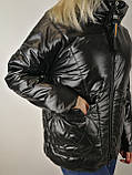 Чорна жіноча вітровка, фото 8