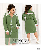 Стильное платье в спортивном стиле, впереди сквозная молния с 50 по 60 размер, фото 6